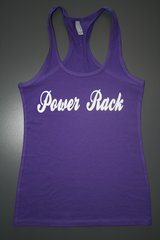 "Fitness ""Power Rack"" Cotton/Poly/Spandex RazorbackTank"