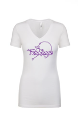 AZ Rampage Ladies V-neck Tee with Full Logo