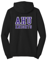 AHU Ladies Junior Fit Zip Hooded Sweatshirt with Midgets Logo