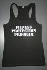 "Fitnesss ""Fitness Protection Program"" Cotton/Poly/Spandex RazorbackTank"