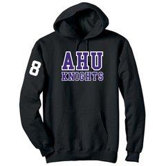 AHU Unisex Hooded Pullover Sweatshirt with Midget logo