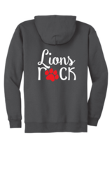 Galveston Unisex Zip Hoodie with Lions Rock Bling