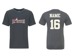 2017 Jr Coyotes Boys tee with Jr Coyote graphic Logo with Name and Number