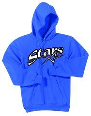 Stars Baseball Pullover Screen Print Hoodie YOUTH SPORT TEK DRY WICK