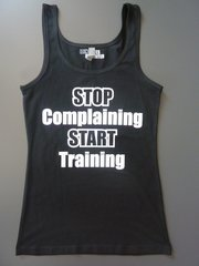 "Fitness ""Stop Complaining Start Training"" Cotton/Poly/Spandex Tank"