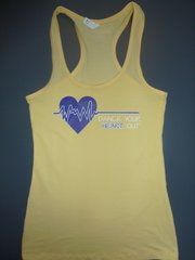 "Fitness ""Dance Your Heart Out"" Cotton/Poly/Spandex RazorbackTank"