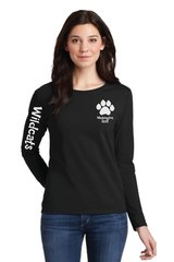 Wildcats Long Sleeve Ladies Tee