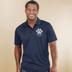Lawrence Men's polo with left chest print