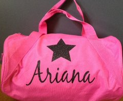 Custom Duffle bag with name and star