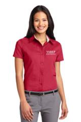 VAREP Ladies' Button-Down Collar, Short Sleeve