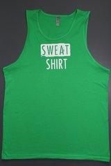 """Fitness """"Sweat Shirt"""" cotton tank"""