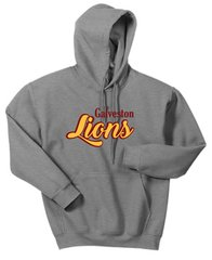 Galveston Unisex Pullover Hoodie Galveston with cursive Lions