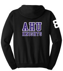 AHU Unisex Zip Hooded Sweatshirt with Midget logo