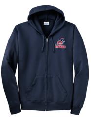 Titans Unisex Adult Embroidered Zip Hoodie