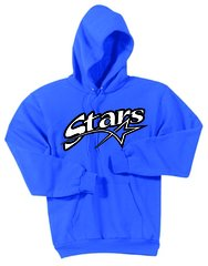 Stars Baseball Pullover Screen Print Hoodie YOUTH HANES FLEECE