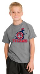 Titans HANES youth 50/50 shirt