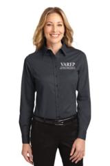 VAREP Ladies' Button-Down Collar, Long Sleeve