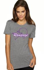 AZ Rampage Ladies Tee with Full Logo