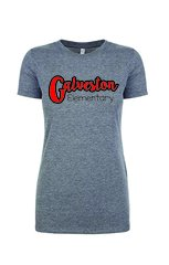 Galveston Ladies Fit fun font tee
