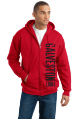 Galveston Unisex Zip Hoodie with side print