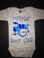"Custom Baby Onsie ""Future Rock Star"" with name personalization"