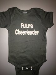 """Baby Onesie """"Future Cheerleader"""" Glitter Print"""