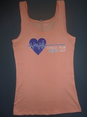 "Fitness ""Dance Your Heart Out"" Cotton/Poly/Spandex Tank"