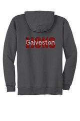 Galveston Unisex Zip Hoodie with Galveston Bling