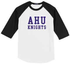 AHU Adult Unisex Baseball tee with Midgets Logo