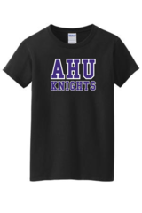 AHU Ladies basic tee with Midgets Logo