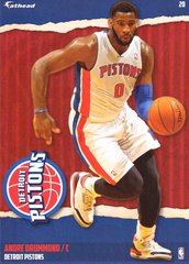 "2015 NBA ANDRE DRUMMOND DETROIT PISTONS Fathead Tradeable 5"" X 7"""