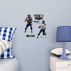 Russell Wilson Home and Away Fathead Teammate NFL 6 Decals Football