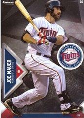 """2016 MLB JOE MAUER Minnesota Twins Fathead Tradeable 5"""" X 7"""""""