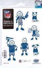 NFL DETROIT LIONS Family Decals Auto Car Vinyl Stickers NEW!