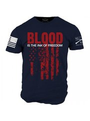 GRUNT STYLE BLOOD IS THE INK OF FREEDOM T-SHIRT AMERICA PATRIOTIC