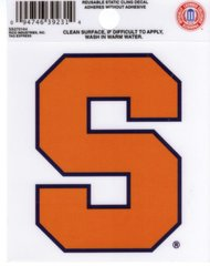 NCAA SYRACUSE ORANGEMEN STATIC CLING WINDOW DECAL OFFICIALLY LICENSED