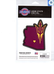 NCAA Arizona State Sun Devils Home State Repositionable Vinyl Decal Auto Car NEW!!!