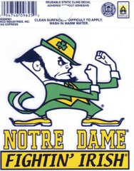 NCAA NOTRE DAME STATIC CLING WINDOW DECAL OFFICIALLY LICENSED