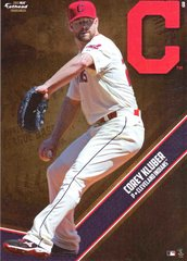 """MLB 2015 COREY KLUBER CLEVELAND INDIANS Fathead Tradeable 5"""" X 7"""""""