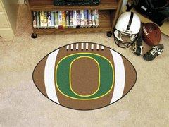 NCAA Oregon Ducks Sports Logo Football Shaped Area Floor Mat Rug