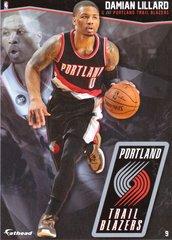 "2016 NBA DAMIAN LILLARD PORTLAND TRAIL BLAZERS Fathead Tradeable 5"" X 7"""