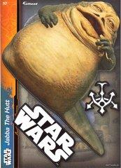 """STAR WARS Jabba the Hutt Fathead Tradeable 5"""" x 7"""""""