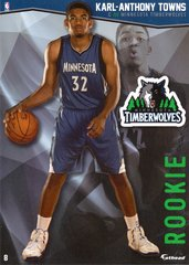 "2016 NBA KARL-ANTHONY TOWNS MINNESOTA TIMBERWOLVES Fathead Tradeable 5"" X 7"""