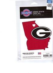 NCAA Georgia Bulldogs Home State Repositionable Vinyl Decal Auto Car NEW!!!