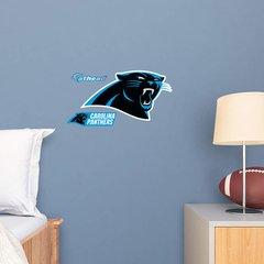 "Carolina Panthers Fathead Teammate NFL Logo 15"" X 8"" Football"