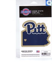 NCAA Pitt Panthers Home State Repositionable Vinyl Decal Auto Car NEW!!!