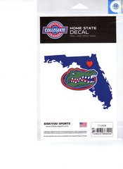 NCAA Florida Gators Home State Repositionable Vinyl Decal Auto Car NEW!!!