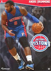 "2016 NBA ANDRE DRUMMOND DETROIT PISTONS Fathead Tradeable 5"" X 7"""