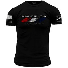 GRUNT STYLE AMERICA WAR WE'RE ALWAYS READY T-SHIRT USA
