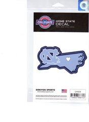 NCAA North Carolina Tar Heels Home State Repositionable Vinyl Decal Auto Car NEW!!!